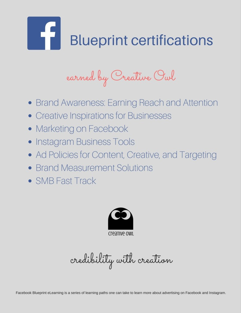 Certifications creative owl blueprint certification malvernweather Choice Image